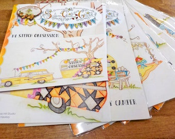 Salem Quilt Guild...Quilt Campout...complete set of 12 patterns and finishing by Meg Hawkey of Crabapple Hill Studio