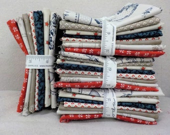 Portsmouth, exclusive 8 fat quarter bundle by Minick and Simpson for Moda Fabrics