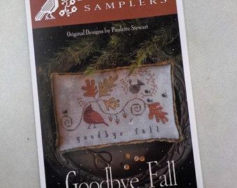 Goodbye Fall by Plum Street Samplers...cross stitch pattern, cross stitch