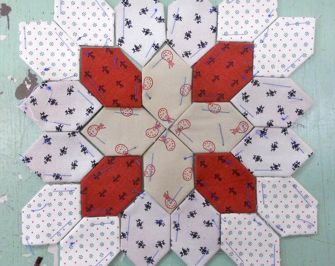 Lucy Boston Patchwork of the Crosses civil war block kit #21