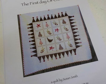 The First Day of Christmas pattern...pattern designed by Susan Smith...complete pattern and hexagon acrylic