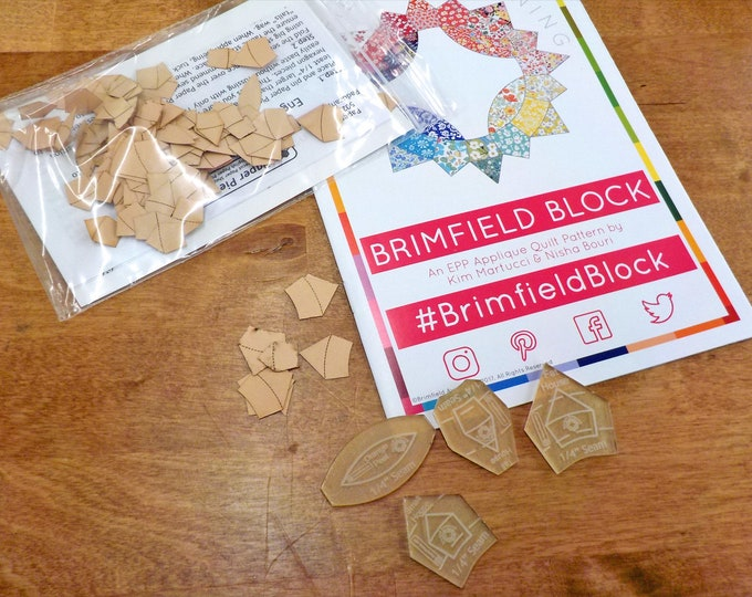 Bitty Brimfield...pattern, acrylic templates, and paper pieces