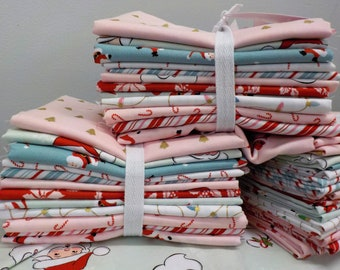 Santa Claus Lane...12 fat quarter bundle by Polka Dot Chair for Riley Blake Designs...exclusive grouping