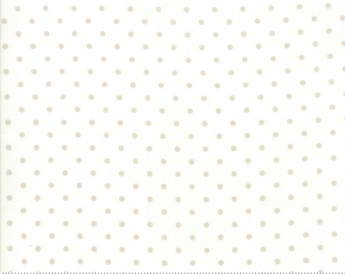 Amberley 18675 12 linen white dot by Brenda Riddle Designs for Moda Fabrics
