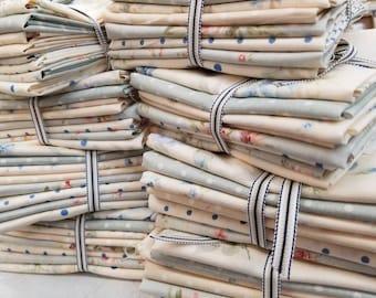 Blue Durham by Lecien Fabrics...8 fat quarters...pastel, soft floral, bundle, exclusive bundle