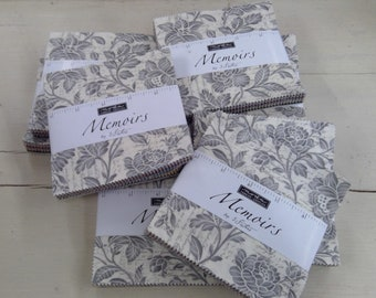 Memoirs by 3 Sisters for moda fabrics...Charm Pack...42--5 inch squares...precut square