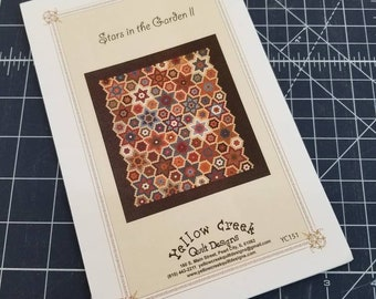 Stars in the Garden II pattern designed by Jill Shaulis of Yellow Creek Quilt Designs
