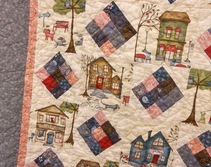 PDF Small Town Charm pattern...pattern designed by Mickey Zimmer for Sweetwater Cotton Shoppe