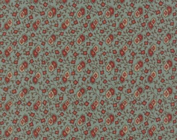 Lizzie' s Legacy Aqua 31517 13 by Betsy Chutchian for moda fabrics