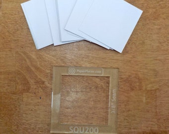 Square, 2 inch...50 pieces, laser cut, acrylic template
