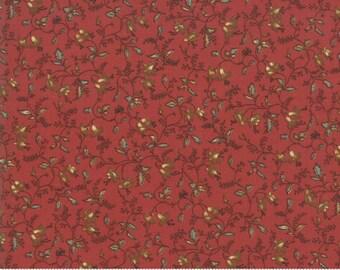 Sarah's Story 1830-1850, Turkey Red 31591 13 fabric designed by Betsy Chutchian for Moda Fabrics