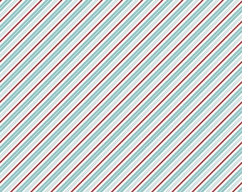 Santa Claus Lane Stripes Bear Lake C9616-BEARLAKE designed by Polka Dot Chair for Riley Blake Designs