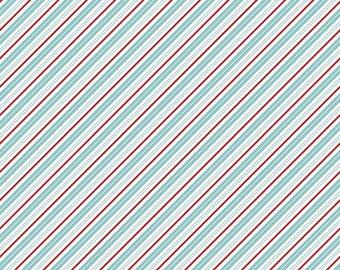 Santa Claus Lane Stripes Bear Lake C9616-BEARLAKE designed by Polka Dot Chair for Riley Blake Designs