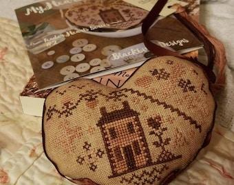 My Heart is Home, Tender Hearts Series #2, by Blackbird Designs...cross-stitch kit