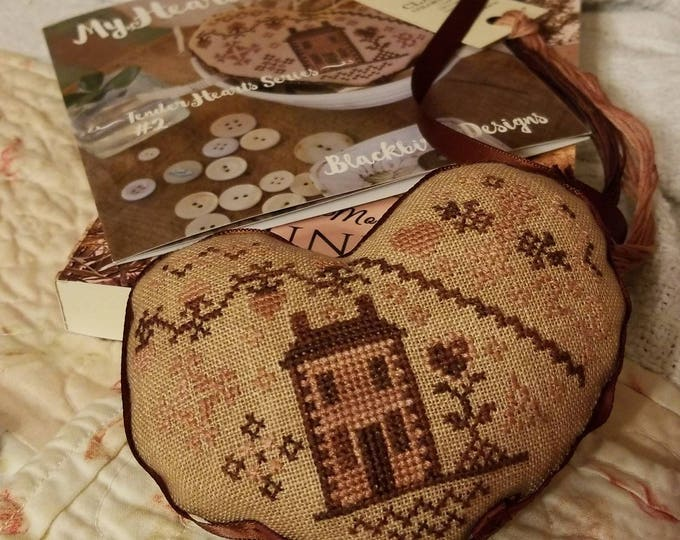 My Heart is Home, Tender Hearts Series #2, by Blackbird Designs...cross-stitch kit