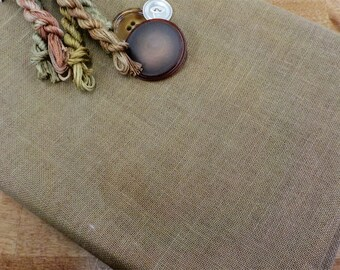 Dames of the Needle, North Beach Brown 32 ct, Fat Quarter, 100% linen, cross stitch linen