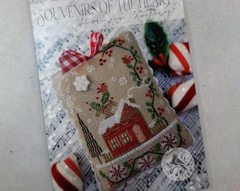 Home for Christmas, a Souvenirs of the Heart, by Brenda Gervais of With Thy Needle & Thread...cross-stitch design, Americana