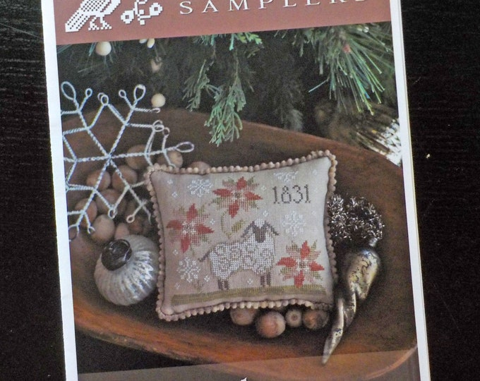 1831 Christmas Plum Street Samplers...cross stitch pattern, Christmas cross stitch, winter cross stitch