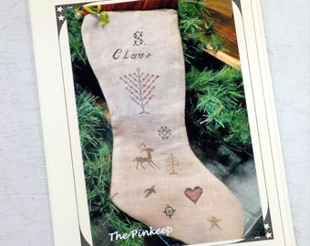 S. Claus Prim Stocking by The Pinkeep...cross stitch pattern