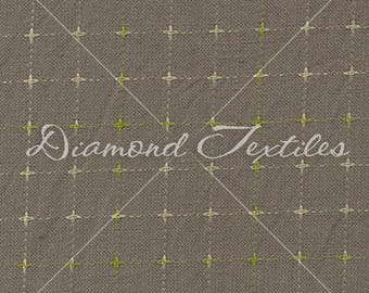 Primitive Woven Elements by Studio 93 PRF-764, dark gray with cross stitches by Diamond Textiles