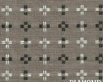 Basketweave BW-1433, woven gray, black and white, by Diamond Textiles
