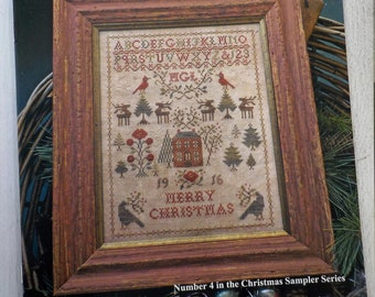Christmas Rose, Number 4 in the Christmas Sampler Series, by Blackbird Designs...cross-stitch design