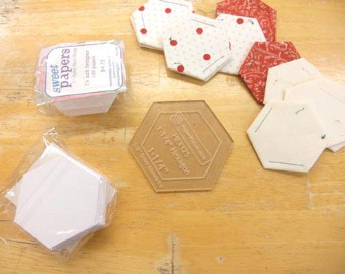 hexagons, 1 1/4 inch...100 pieces, laser cut