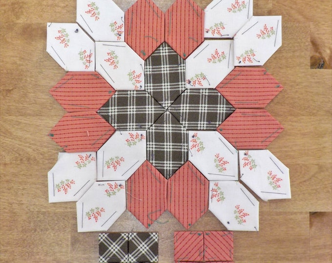 Lucy Boston Patchwork of the Crosses summer cottage block kit #38
