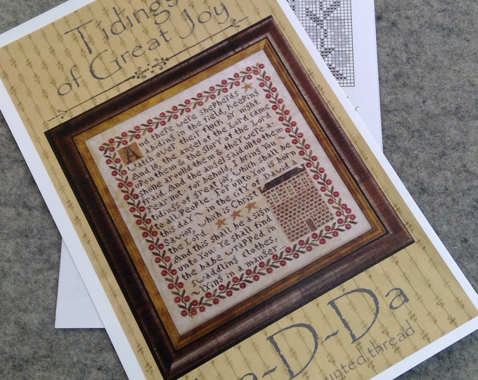 Tidings of Great Joy by La-D-Da...cross stitch pattern, Christmas cross stitch