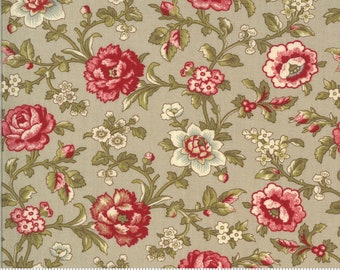 La Rose Rouge Roche 13883 15 by French General for moda fabrics