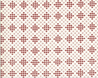 Redwork Gatherings Cream 49116 12 by Primitive Gatherings for moda fabrics