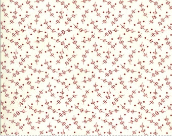 Redwork Gatherings Cream 49112 11 by Primitive Gatherings for moda fabrics