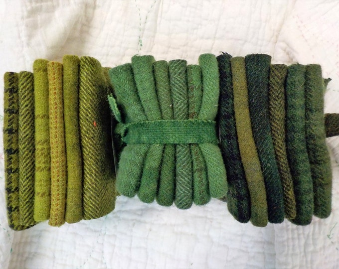 Wool 6-Pack...6 coordinating wools approximately 6 1/2 x 7 1/2 inches...3 green options