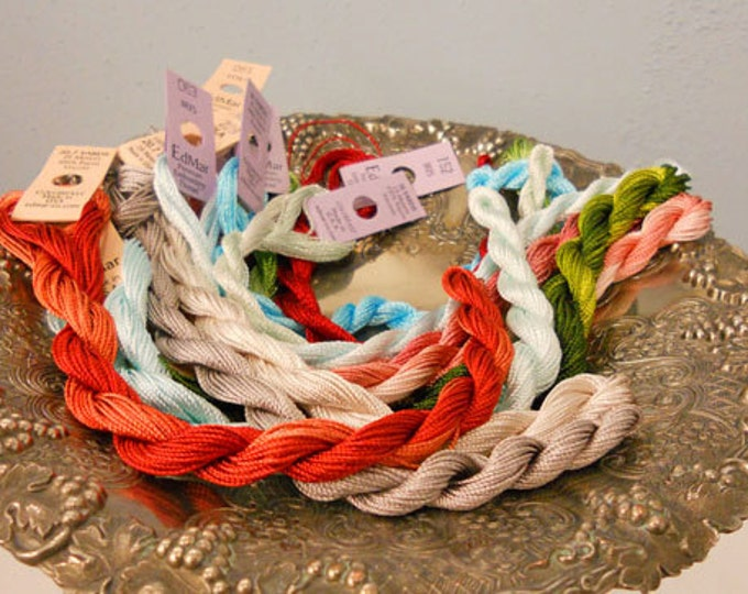 Ruby Marmalade Thread Pack of 10 skeins of Edmar Thread.