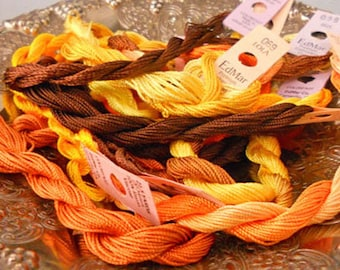 Peanut Butter Pieces Thread Pack of 10 skeins of Edmar Thread.