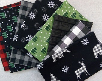 Holiday Lodge 8 fat quarter bundle designed by Deb Strain for Moda Fabrics