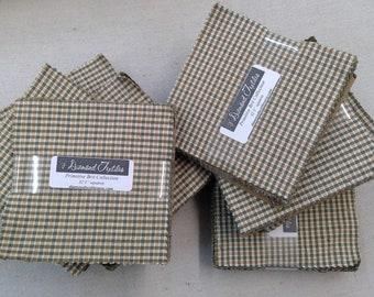 Primitive Brit Collection...charm pack...5 inch squares...32 squares...Diamond Textile Wovens