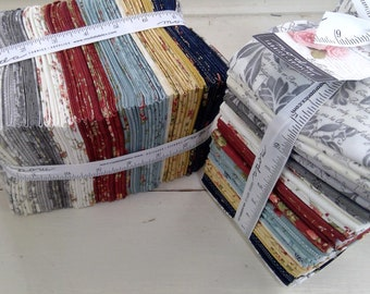 Memoirs by 3 Sisters for moda fabrics...fat quarter bundle...39 fat quarters...precut