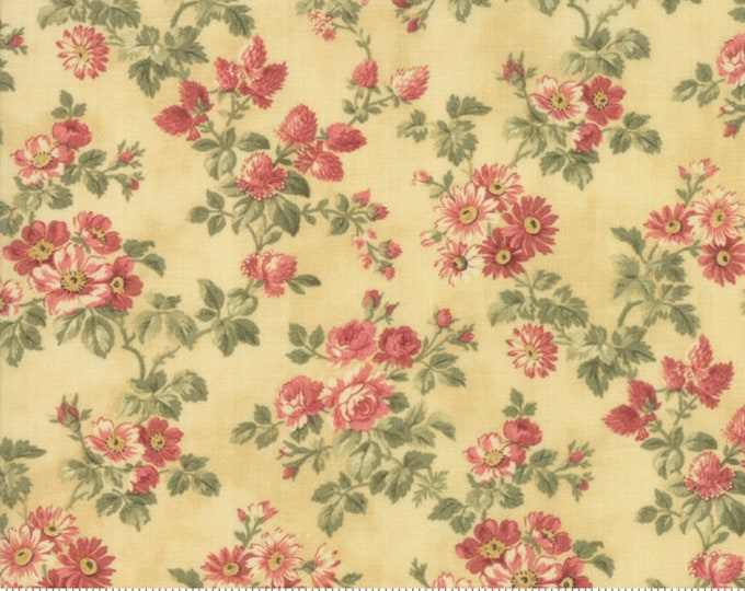 Memoirs Gold 44214 16 by 3 Sisters for Moda Fabrics