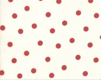 Mackinac Island Cream Red 14896 13 by Minick and Simpson for Moda Fabrics