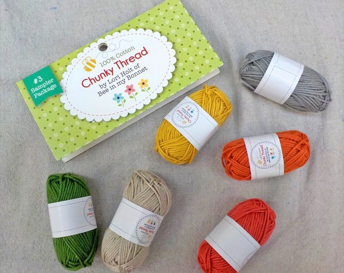 Chunky Thread by Lori Holt of Bee in my Bonnet...sampler pack #3, 6 skeins, 10 grams each