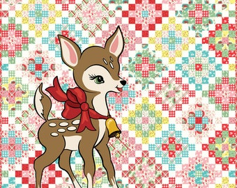 Deer Christmas Moda Kit by Urban Chiks for Moda Fabrics
