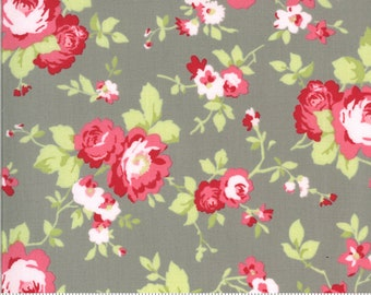 Sophie Main Floral Cobblestone 18710 12 by Brenda Riddle for Moda Fabrics