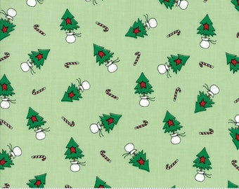Merry Merry Snow Days Spearmint 2942 12 designed by Bunny Hill Designs for Moda Fabrics