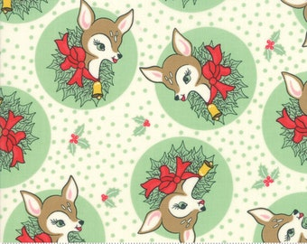 Deer Christmas Spearmint 31161 23 by Urban Chiks for Moda Fabrics