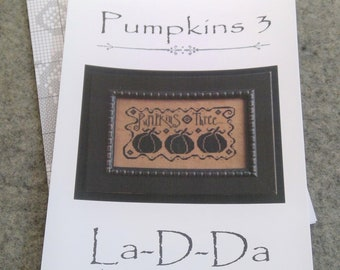 Pumpkins 3 by La-D-Da...cross stitch pattern...Halloween cross stitch