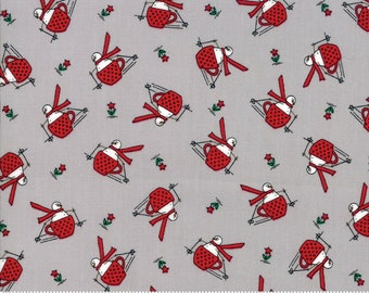 Merry Merry Snow Days Grey 2941 13 designed by Bunny Hill Designs for Moda Fabrics