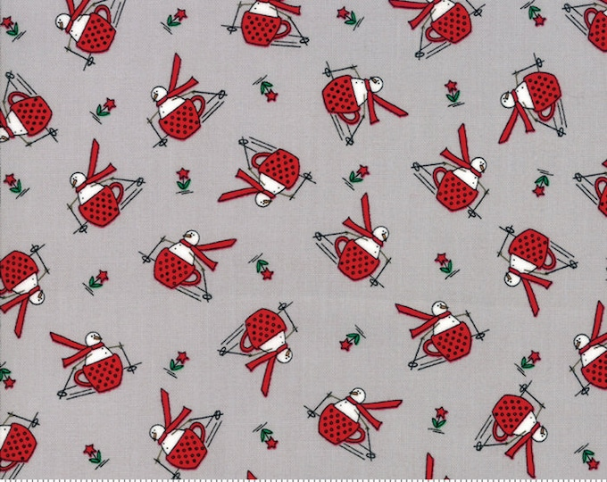 Merry Merry Snow Days Grey 2941 13 designed by Bunny Hill Designs for Moda Fabrics