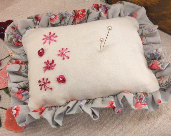 Baby's Breath...Pincushion kit...featuring Brazilian embroidery