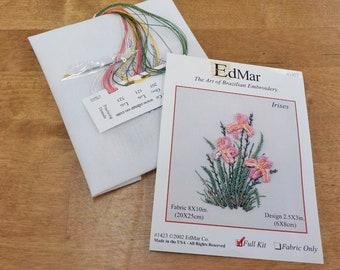 Irises (1423)...EdMar kit...Brazilian embroidery